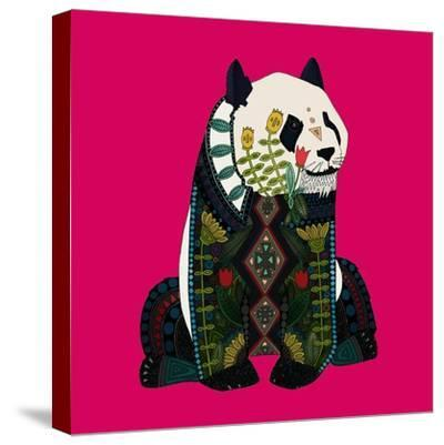 Sitting Panda (Variant 2)-Sharon Turner-Stretched Canvas Print