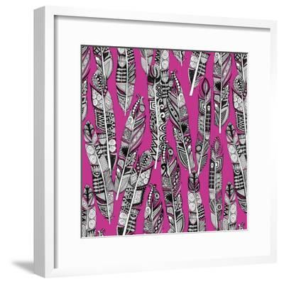 Geo Feathers (Variant 2)-Sharon Turner-Framed Art Print
