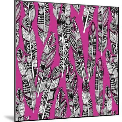 Geo Feathers (Variant 2)-Sharon Turner-Mounted Art Print