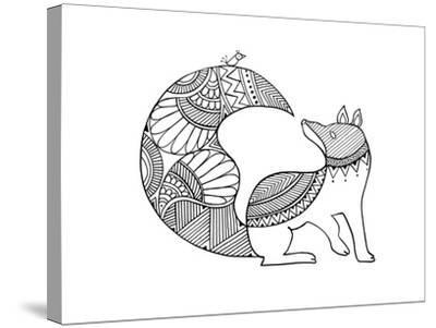 Animal Fox 2-Neeti Goswami-Stretched Canvas Print