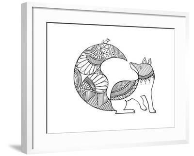 Animal Fox 2-Neeti Goswami-Framed Art Print