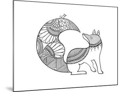 Animal Fox 2-Neeti Goswami-Mounted Art Print
