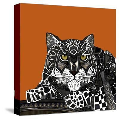 Snow Leopard Orange-Sharon Turner-Stretched Canvas Print