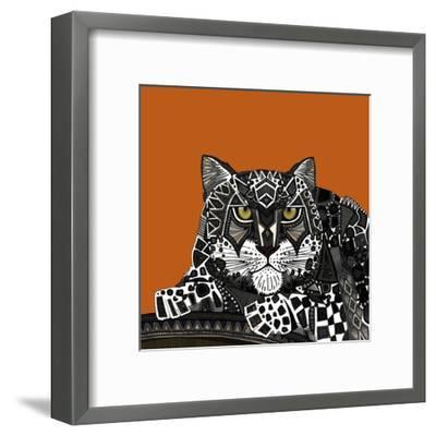 Snow Leopard Orange-Sharon Turner-Framed Art Print