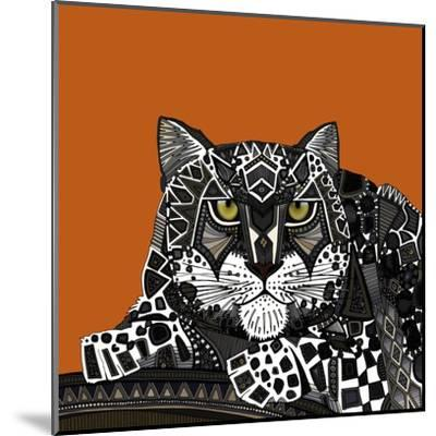 Snow Leopard Orange-Sharon Turner-Mounted Art Print