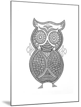 Bird Owl 1-Neeti Goswami-Mounted Art Print