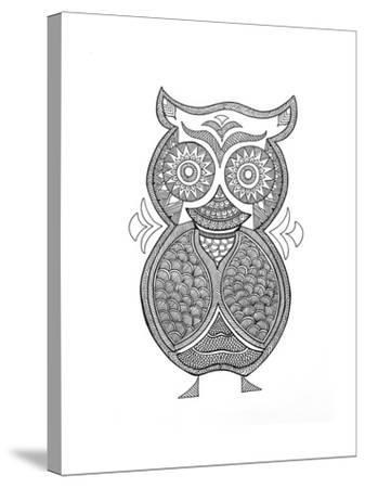 Bird Owl 1-Neeti Goswami-Stretched Canvas Print