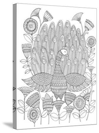 Peacock 8-Neeti Goswami-Stretched Canvas Print