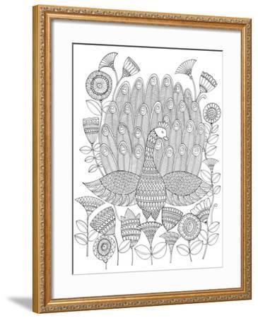 Peacock 8-Neeti Goswami-Framed Art Print