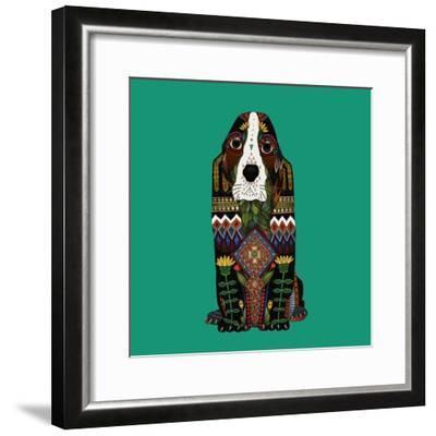 Basset Hound Jade-Sharon Turner-Framed Art Print