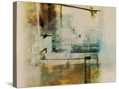 City Collage - Paris 05-Joost Hogervorst-Stretched Canvas Print
