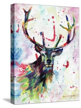 Stag-Sarah Stribbling-Stretched Canvas Print
