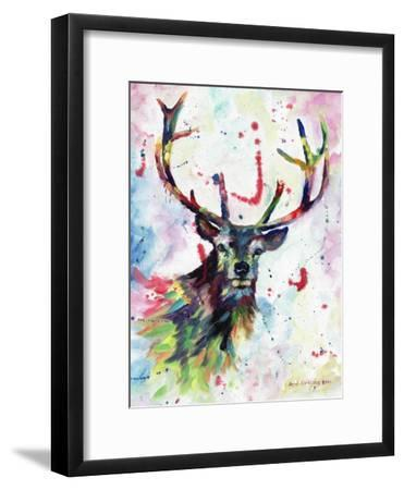 Stag-Sarah Stribbling-Framed Art Print