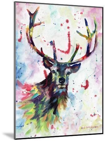 Stag-Sarah Stribbling-Mounted Art Print