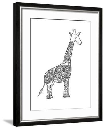 Animal Giraffe-Neeti Goswami-Framed Art Print