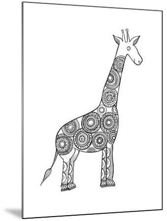 Animal Giraffe-Neeti Goswami-Mounted Art Print