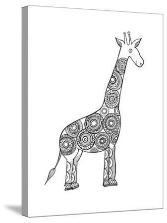 Animal Giraffe-Neeti Goswami-Stretched Canvas Print