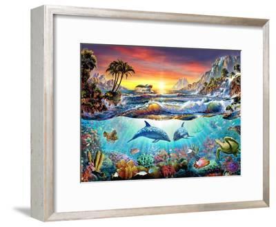 Paradise Bay-Adrian Chesterman-Framed Art Print