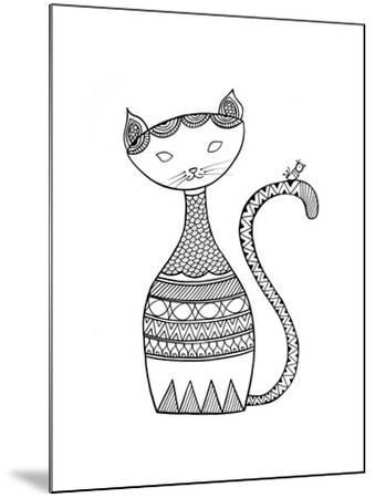 Animal Cat 3-Neeti Goswami-Mounted Art Print