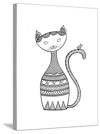 Animal Cat 3-Neeti Goswami-Stretched Canvas Print