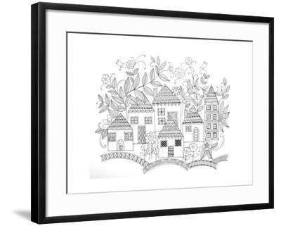 Houses-Neeti Goswami-Framed Art Print