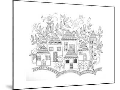 Houses-Neeti Goswami-Mounted Art Print