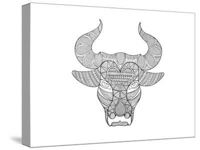 Animal Head Bull-Neeti Goswami-Stretched Canvas Print