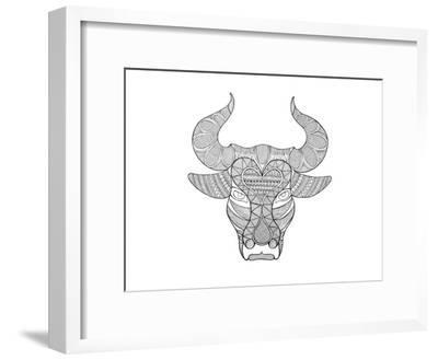 Animal Head Bull-Neeti Goswami-Framed Art Print