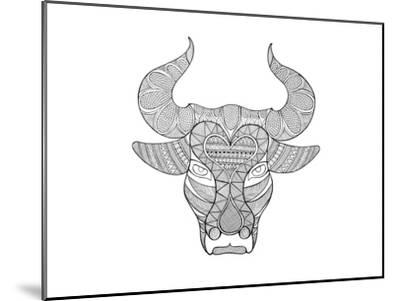 Animal Head Bull-Neeti Goswami-Mounted Art Print