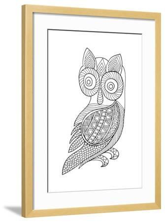 Bird Baby Owl-Neeti Goswami-Framed Art Print