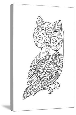 Bird Baby Owl-Neeti Goswami-Stretched Canvas Print