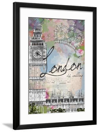 London Is Calling-Jodi Pedri-Framed Art Print