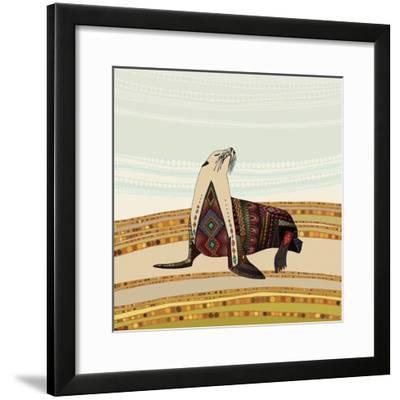 Sea Lion-Sharon Turner-Framed Art Print