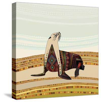 Sea Lion-Sharon Turner-Stretched Canvas Print