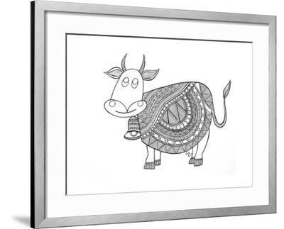 Animals Cow 3-Neeti Goswami-Framed Art Print