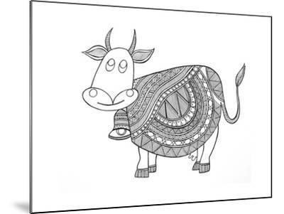 Animals Cow 3-Neeti Goswami-Mounted Art Print
