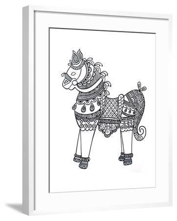 Animal Horse4-Neeti Goswami-Framed Art Print