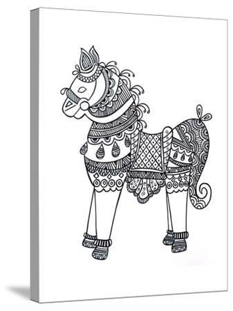 Animal Horse4-Neeti Goswami-Stretched Canvas Print