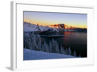 Crater Lake II-Ike Leahy-Framed Photographic Print