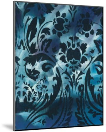Indigo Patterns I-Arielle Adkin-Mounted Art Print