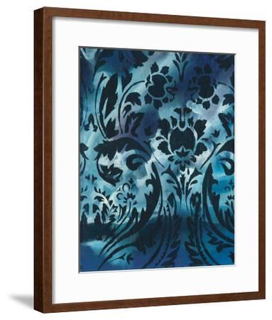 Indigo Patterns I-Arielle Adkin-Framed Art Print