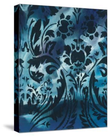 Indigo Patterns I-Arielle Adkin-Stretched Canvas Print