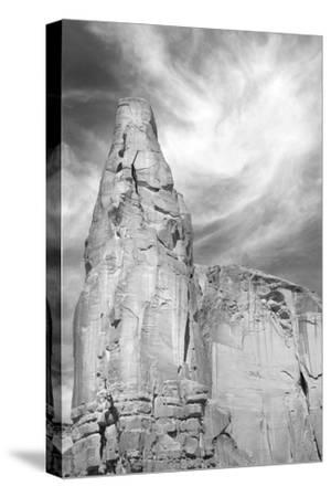 Navajo Skies BW-Douglas Taylor-Stretched Canvas Print