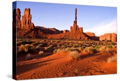 Monument Valley II-Ike Leahy-Stretched Canvas Print