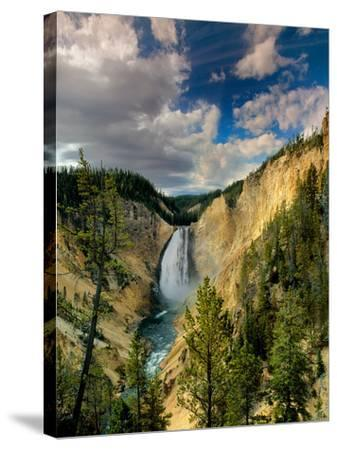 Yellowstone Falls-Ike Leahy-Stretched Canvas Print
