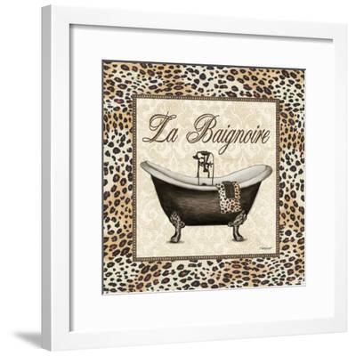 Leopard Bathtub-Todd Williams-Framed Art Print