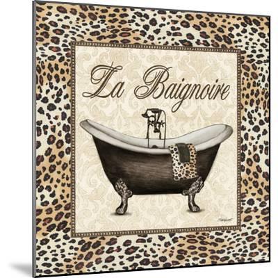 Leopard Bathtub-Todd Williams-Mounted Art Print