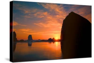 Cannon Beach III-Ike Leahy-Stretched Canvas Print