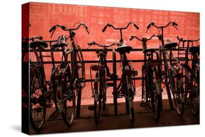 Bicycles at Centraal Station II-Erin Berzel-Stretched Canvas Print