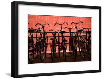 Bicycles at Centraal Station II-Erin Berzel-Framed Photographic Print
